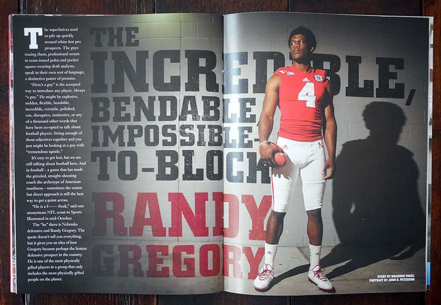 Randy Gregory Hail Varsity spread