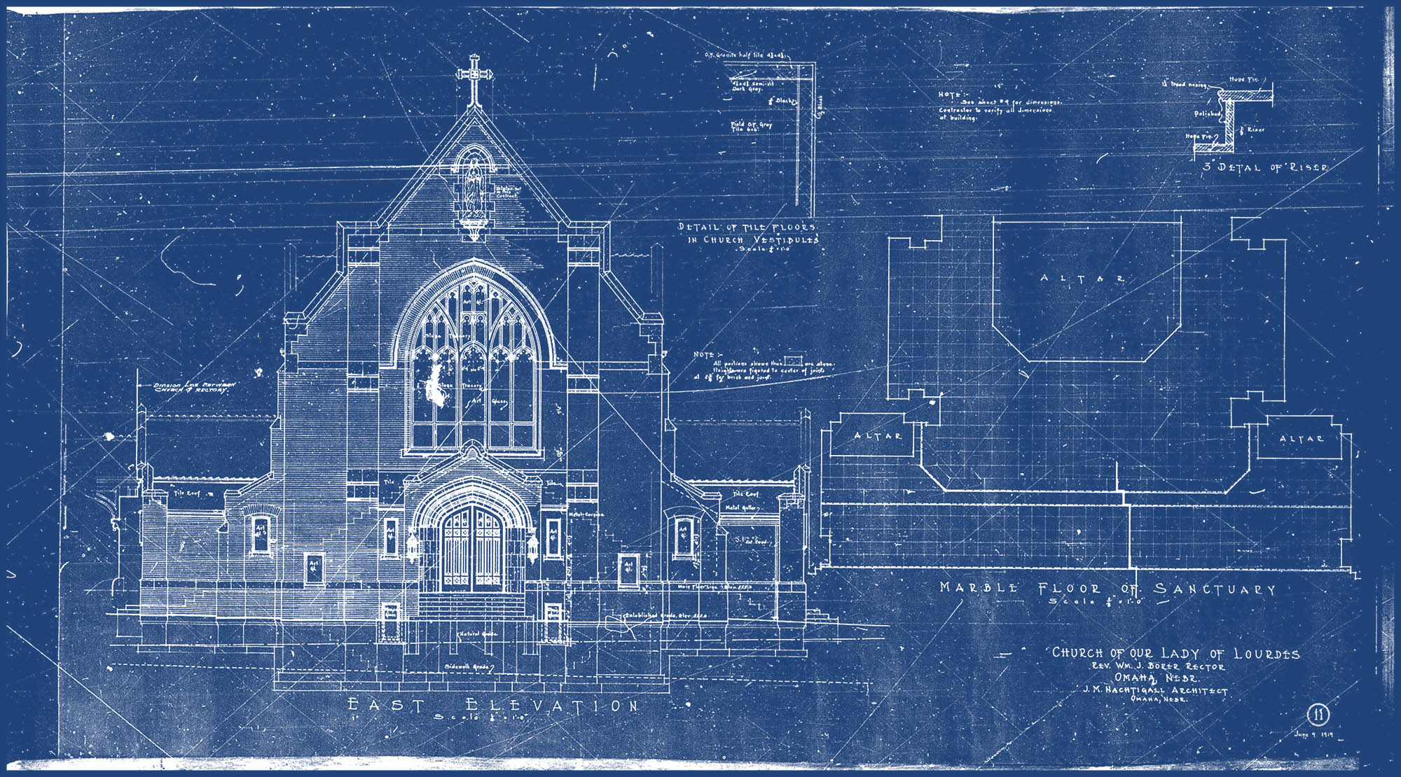 Vaulting century old omaha blueprints hanscom park studiothe blog our lady of lourdes blueprints malvernweather Images
