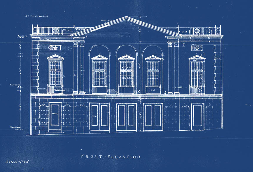 Dundee theater Omaha blueprints